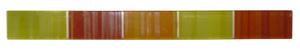 Listelo de Vidrio Amarillo Rojo 3x30cm