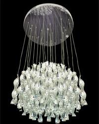 Lámpara colgante de Cristales Centrifuga con 9 boquillas