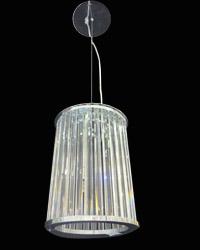 Lámpara Colgante De Cristales Cilindricos