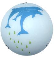 Plafón de vidrio Roclet en Blanco Delfin