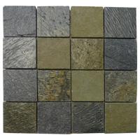 Mosaico de Piedra Multicolor Green 30x30cm