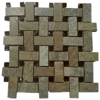 Mosaico de Piedra/Vidrio Copper  28.5x28.5 cm