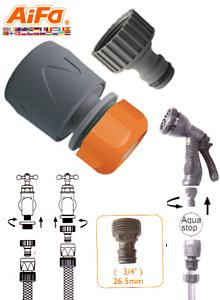 Conector para Manguera con Adaptador de 3/4 Pulgadas