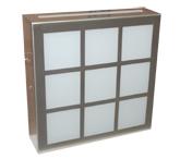 Plafón de vidrio Hidt en Cromo /Satín