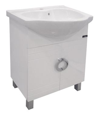 Mueble De Baño Con Lavamanos De Sobreponer 84x64cm