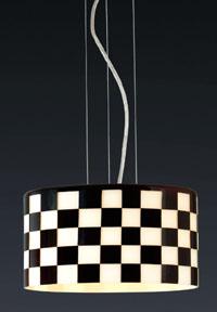 Lámpara colgante decorativa tipo ajedrez