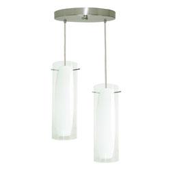 Lámpara colgante cilindro grande transparente