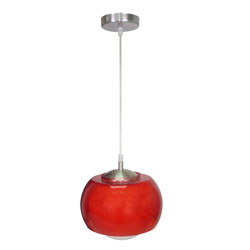 Lámpara colgante blanco rojo