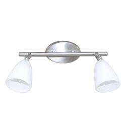 Lámpara móvil de 2 Spots Blanco