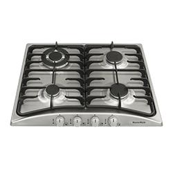 Cocina a Gas con 3 Quemadores + 1 Triple Llama de Acero Inoxidable de 58x50cm  Mastermaid