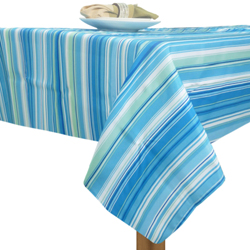 Mantel con Diseño de Rayas Azul