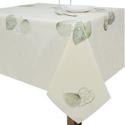 Mantel con Diseño de Hojas Bordadas Beige