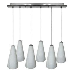 Lámpara colgante de 6 Stripes Blancas