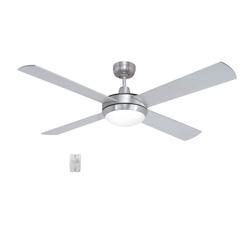 Ventilador Níquel para techo con lámpara y control remoto 52