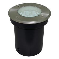 Lámpara de Piso Empotrable 12 leds para Exterior Aluminio Oxidal