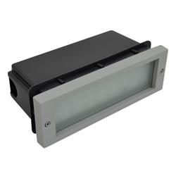 Lámpara Empotrable de Piso 24 leds para Exterior Aluminio Oxidal