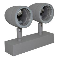 Lámpara de Pared Móvil Doble para Exterior Aluminio Oxidal