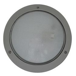 Plafón para exterior Aluminio Oxidal Mojica en Mate