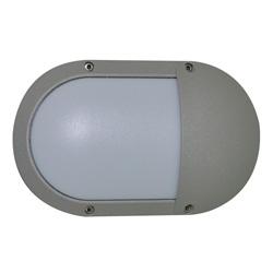 Lámpara de pared ovalada para exterior Aluminio Oxidal Ovalada Media Luna en Mate