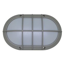 Lámpara de pared para exterior Aluminio Oxidal Ovalda con Rejillas en Mate