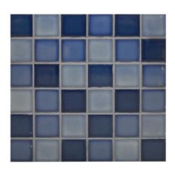Mosaico Porcelanato Mix Azul 30.6x30.6cm (.0936)
