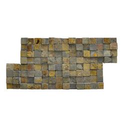 Piedra Mosaico Gris Oxido