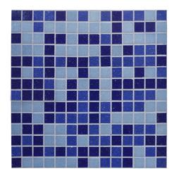 Mosaico Vidrio Mix Azul Celeste 32.7x32.7cm (.107)