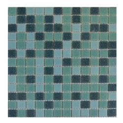 Mosaico Vidrio Mix Verde 32.7x32.7cm (.107)