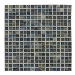 Mosaico de Vidrio Azul Mármol 32.7x32.7cm (.107)