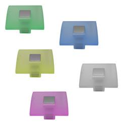 Pomo Square Acrílico de 4 x 4 cm AyB