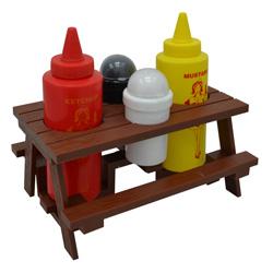 Porta Salsas en Set para BBQ MR-BBQ