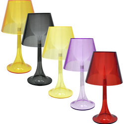 Lámpara Transparente para Mesa