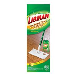 Mopa con Asa y Líquido de Limpieza para Pisos de Madera en Set de 4 Piezas Libman