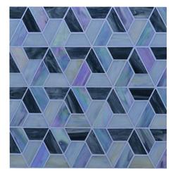 Mosaico de Vidrio Prisma Hecho a Mano 32x27.6cm (.08)