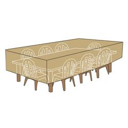 Cubierta Beige para Mesas y Sillas 160 cm.