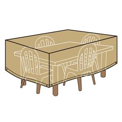 Cubierta Beige para Mesas y Sillas 177 cm.