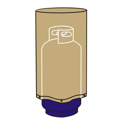 Cubierta Beige para Cilindro de Gas 32cm