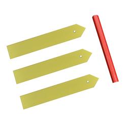 Marcadores Plásticos Amarillo para Plantas en Set
