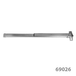 Barra Antipánico Push Reversible de Acero Inoxidable para Puertas Individuales