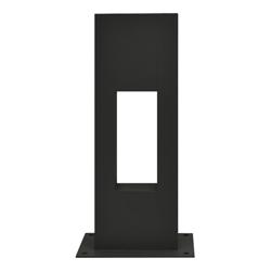Lámpara Negra de Piso Para Exterior 60 cm