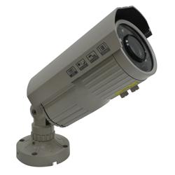 Cámara a Color para Exterior con Lente de 6-60mm Ajustable, 12 HI- Leds  y 600TVL Farfisa