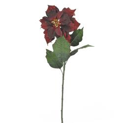 Flor Navideña Poinsetia Roja Oscura