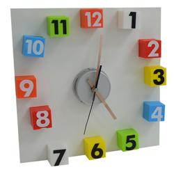 Reloj de Pared Cubos Multicolor