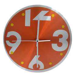 Reloj de Pared Inoxidable Naranja