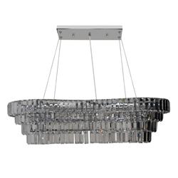 Lámpara de 4 Niveles de Cristal para Techo