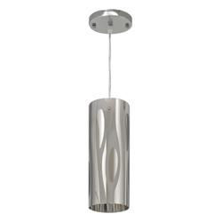 Lámpara para Techo con Pantalla Cilíndrica Plateada