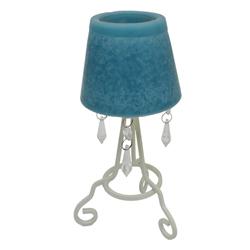 PortaVela con Diseño de Lámpara y Apliques de Cristal