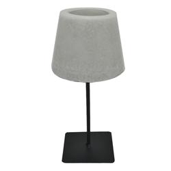 PortaVela con Diseño de Lámpara y Base Metálica Negra
