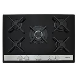 Cocina a Gas con 4 Quemadores +1 Triple Corona Vitrocerámica de 68.5x51cm Mastermaid