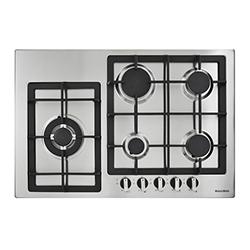 Cocina a Gas con 4 Quemadores +1 Triple Llama de Acero Inoxidable 76x51cm Mastermaid